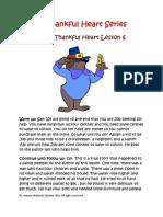 Job's Thankful Heart Lesson 6