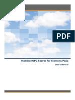 MatrikonOPC Server for Siemens PLCs Driver User Manual