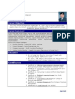 Resume_Project Manager_Training & Social Development