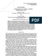 Paper - Natural Frequencies of Thick, Layered Composite Plates