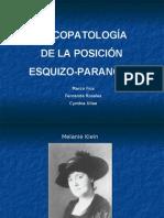 PsicopatologIa de La Posicion Esquizo Paranoide
