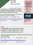 Fractions, Decimals, Percents Day 10, 2011-2012