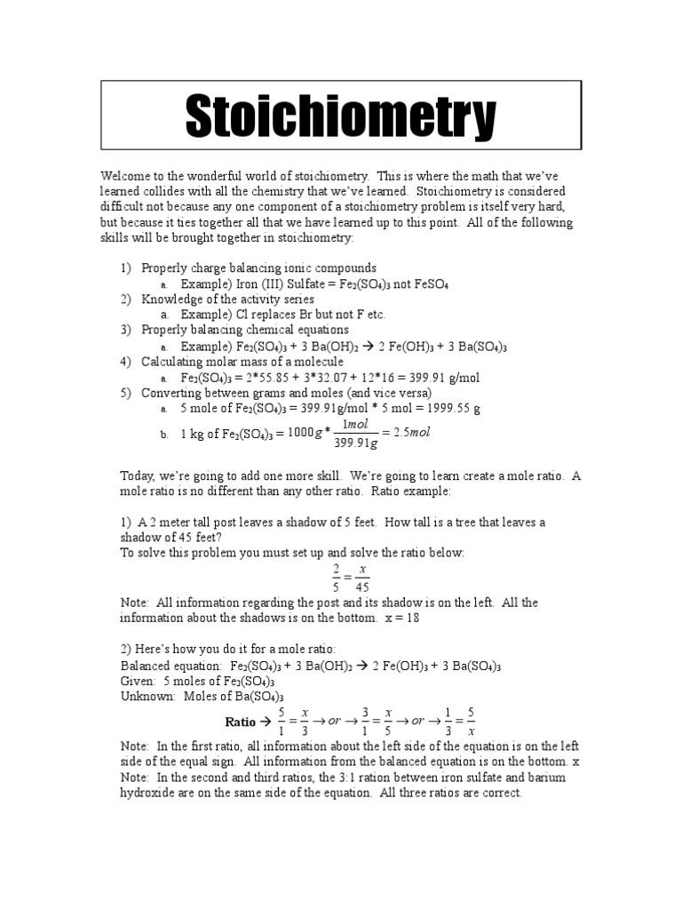 Worksheets Mole Ratio Worksheet mole ratios stoichiometry unit
