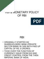 Rbi & Monetary Policy