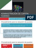 Administración de capital humano valuacion de puesto