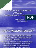 INTRODUCCIÓN A PRIMEROS AUXILIOS