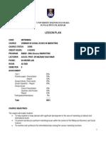 Lesson Plan Mkt 658 Issues in Mktg
