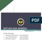 Batuan Dan Mineral