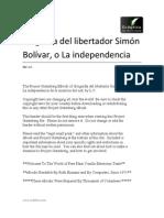 L C - Biografia de Simon Bolivar