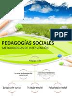 PEDAGOGÍAS SOCIALES