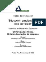 EDUCACIÓN AMBIENTAL UN RETO CURRICULAR