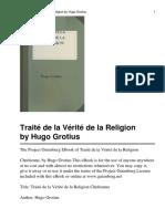 GROTIUS - Traité de la Vérité de la Religion Chretienne