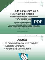 El Proposito Estratégico de La RSE - Gestión Medible