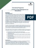 Prison Management Programmes
