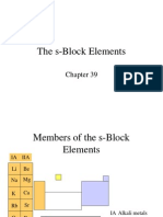 The S-Block Elements Ppt