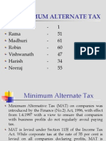 Minimum Alternate Tax