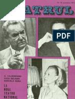 Revista Teatrul, nr. 10, anul XVIII, octombrie 1973
