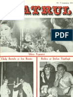 Revista Teatrul, nr. 11, anul XVIII, noiembrie 1973