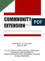 COMMNUNITY EXTENSION1