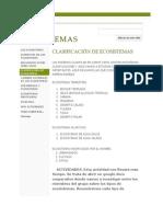 CLASIFICACIÓN DE ECOSISTEMAS - LOS ECOSISTEMAS