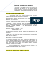 FORMATACAO DE TRABALHOS