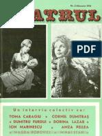 Revista Teatrul, nr. 2, anul XIX, februarie 1974