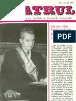 Revista Teatrul, nr. 3, anul XIX, martie 1974