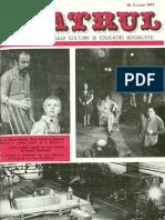 Revista Teatrul, nr. 6, anul XIX, iunie 1974