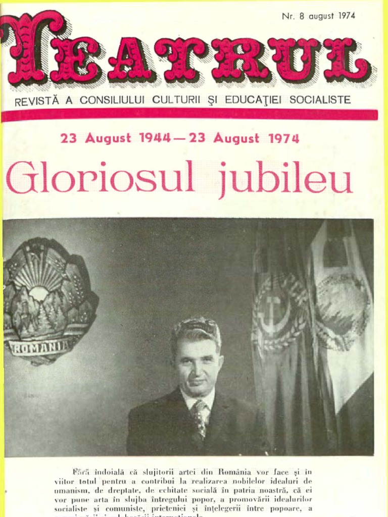 Anca Dumitra Nud revista teatrul, nr. 8, anul xix, august 1974