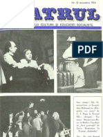 Revista Teatrul, nr. 12, anul XIX, decembrie 1974