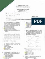 STPM Trials 2009 Chemistry Paper 1 (SMJK Tsung Wah, Kuala Ka