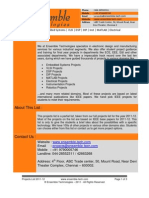 Final Year Projects List - Bio Medical and Bio Metrics