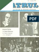 Revista Teatrul, nr. 1, anul XX, ianuarie 1975