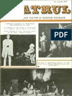 Revista Teatrul, nr. 4, anul XX, aprilie 1975