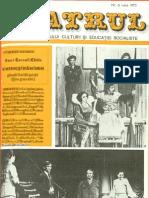 Revista Teatrul, nr. 6, anul XX, iunie 1975