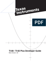 Texas Instrument - Ti89 Ti92 Plus Developer Guide