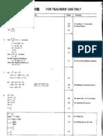 Mathematics 2003 Marking Scheme