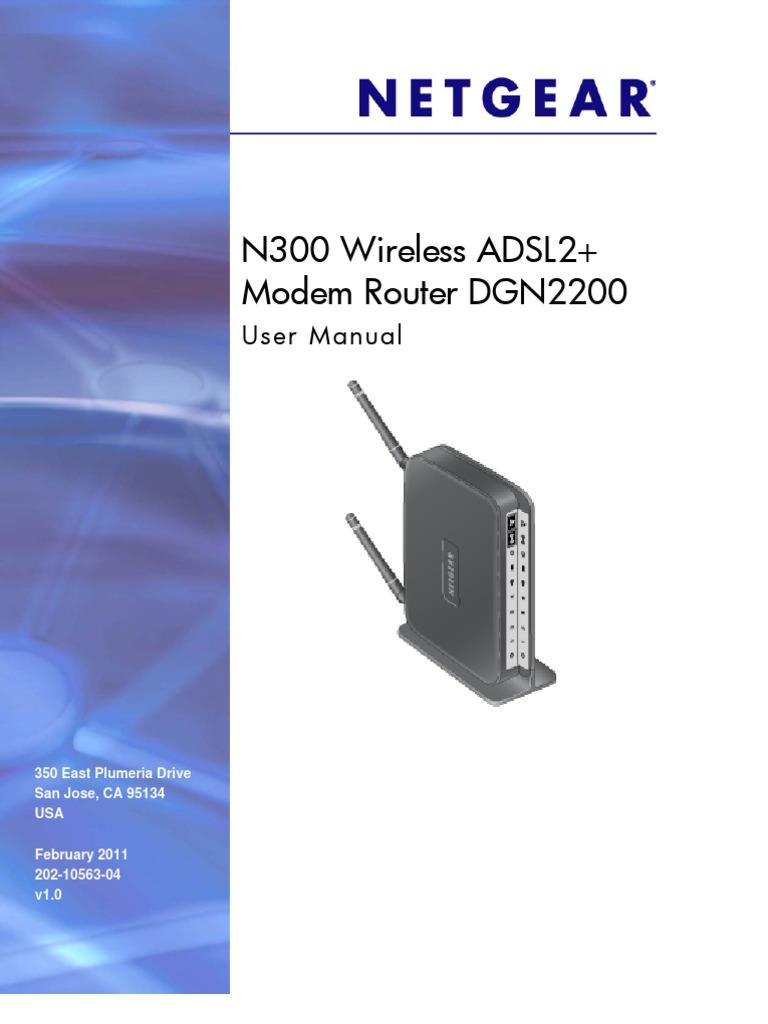 Netgear Dgn2200 Modem Router User Manual | Ip Address | Virtual