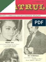 Revista Teatrul, nr. 9, anul XXI, septembrie 1976