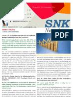 SNK Newsletter- November 2011