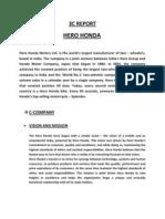 3C REPORT of Hero Honda
