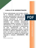 CONCEITO DE ADMINISTRAÇÃO