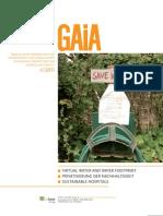 Επιστημονική Δημοσίευση στο Επιστημονικό Περιοδικό GAiA με τίτλο  ''H Μετατροπή της Σαμοθράκης σε Πάρκο Βιόσφαιρας της UNESCO'' από τους Marina Fischer- Kowalski, Lazaros Xenidis, Simron Jit Singh, Irene Pallua