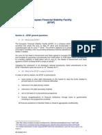 European Financial Stability Facility (EFSF) - FAQ