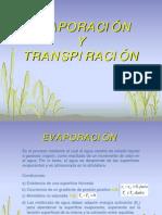 Evaporaci�n y  transpiraci�n