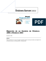 Migracion de Un Dominio Windows 2000 a Windows 2003