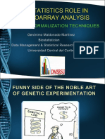 Biostatistics Role in Microarray Analysis