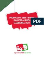 Elecciones Generales 2011 Programa IU