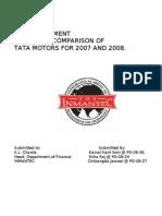 14405118 Ratio Analysis of TATA MOTORS