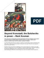 Beyond Kronstadt; The Bolsheviks in Power